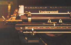 Wordy (charhedman - on and off) Tags: iloveoldtypewriters andilovewords underwood isawthisinanantiquestore typewriter antique goldenlight black