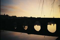 Morning Glory Abridged (bigalid) Tags: film 35mm hanimex 35se plastic dumfries 2017 january river nith agfaphotovista200 c41 devorgilla bridge sunrise reflection