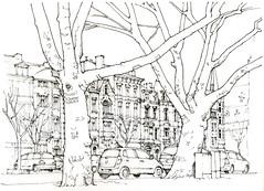 Liège, place de l'Yser (gerard michel) Tags: belgium liège place architecture sketch croquis