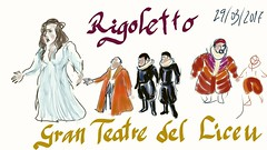 Rigoletto (Fotero) Tags: liceu liceo opera teatro teatre rigoletto verdi usk dibujo urbansketching urbansketch urbansketcher smartphone telefono android sketchbook