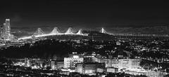 Oakland Bay Bridge at Bernal Heights (txaggie321) Tags: sanfrancisco california bridge landmarks hdr canon 1dx bayarea oaklandbaybridge lights cityscape bernalheights