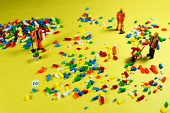 Clean up crew (Quik Snapshot) Tags: cleanupcrew macro macromondays miniature sony colorful color closeup 10years celebration party hmm hoscale hardwork yellow fun sprinkles confetti noprocessing nocrop happy10years a58 creative sal30m28 11ratio slta58 hbmm
