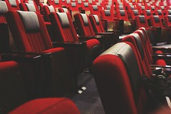 The Stage is Yours (ainulislam) Tags: gallery nsu dhaka dhakagram dhakagraam seat red colours sit retro colorbalance saturated empty vacant watch watching stage