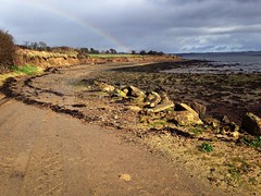 Somewhere over the 🌈 (JulieK (thanks for 7 million views)) Tags: 2017onephotoeachday iphone5 beach shore wexford ireland irish seascape dull rainbow clouds outdoor scenic coast