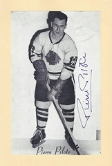 1944-63 NHL Beehive Hockey Photo / Group II - PIERRE PILOTE (Defence) (Hall of Fame 1975) - Autographed Hockey Card (Chicago Black Hawks) (#134) (Baseball Autographs Football Coins) Tags: hockey beehive 1934 1967 19341967 groupi groupii groupiii woodgrain torontomapleleafs bostonbruins newyorkrangers montrealcanadiens chicagoblackhawks detroitredwings montrealmaroons newyorkamericans card photos hockeycards brooklynamericans nationalhockeyleague nhl nationalhockeyleaguepierrepilote defence hof hhof halloffame hockeyhalloffame