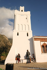 """The """"Spanish Mosque,"""" which overlooks Chefchaouen Medina (adventurousness) Tags: bluecity chefchaouenthebluepearl thebluecity blue chaouen chefchaouen minaret morocco mosque travel"""
