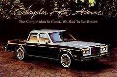 1986 Chrysler Fifth  Avenue (aldenjewell) Tags: 1986 chrysler fifth avenue postcard