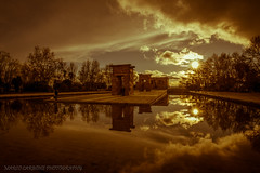 Temple of Debod, Madrid (Marco Carbone Photography) Tags: spain madrid photography photooftheday reflection temples colours colori viaggi viaggiare spagna nikon riflesso prospettiva paesaggi landscapes sunset sun sky water acqua fotodelgiorno