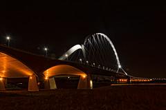 Oversteek_nacht (stevefge) Tags: avond nijmegen oversteek evening night gelderland nacht bridges brug boog nederland netherlands nl nederlandvandaag reflectyourworld