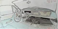 Interieur Simca P60 Elysée (Marc2joux) Tags: dessin croquis simcap60 automobile