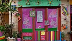 Shop in Chania (dreptacz) Tags: wyspa architektura sony sony55v grecja kreta chania ulica sklep kolorowy różowy zielony niebieski lustrzanka kwiaty kaktus sonyflickraward