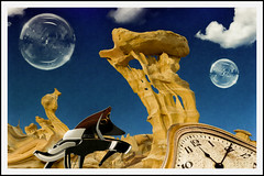 Overwatch (Swissrock-II) Tags: challenge surreal surrealart photoshop photoart photoshopart photomanipulation pixlr lightroom wallpaper piano bubbles brushes clock clouds april 2017 andykobel frame