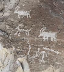 Petroglyphs / Emigrant Spring Site (Ron Wolf) Tags: anthropology archaeology deathvalleynationalpark emigrantcanyon nationalpark nativeamerican anthromorph anthropomorph bighornsheep petroglyph rockart zoomorph california