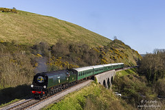 Night Ferry (TimEaster) Tags: swanagerailway steam locomotive train bulleid strictlybulleid southern corfecastle nightferry 34070 manston polephotography pacific
