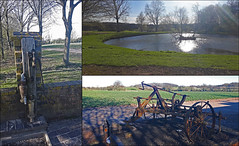 Sunday walk 25 March 2017 (alanhitchcock49) Tags: old pump tap hoe fishing lake studley warwickshire march 2017 mosaic collage private nostalgia harrow