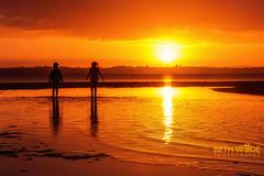 Child's Play (Beth Wode Photography) Tags: sunset sundown silhouette childsplay childrensilhouettes goldensunset reflections lowtide orangesunset wellingtonpoint redlands beth wode bethwode