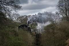 Full steam  reverse (Antony Fleming) Tags: engine steam locomotive nymr train black5 northyorkshiremoors goathland antonyfleming