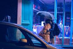 The thing (black_aze) Tags: nikon d7200 paris street colors colorfull rain reflection night light bokeh umbrella