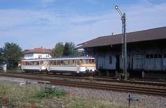 VS 142 + VT 9  Meckesheim  01.10.07 (w. + h. brutzer) Tags: meckesheim eisenbahn eisenbahnen train trains deutschland germany railway vs vb zug beiwagen sweg webru analog nikon