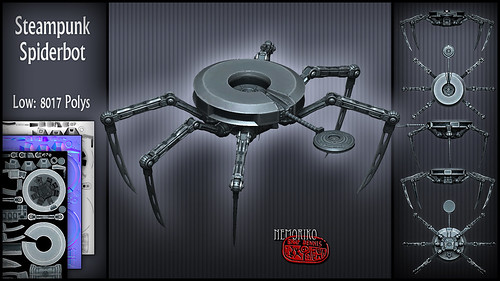 "Steampunk Spiderbot [ by nemoriko ] • <a style=""font-size:0.8em;"" href=""http://www.flickr.com/photos/29628042@N05/14146339499/"" target=""_blank"">View on Flickr</a>"