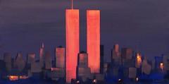 WTC Skyline 2 (filipp_kurkov) Tags: sunset newyork skyline painting evening twins worldtradecenter twintowers wtc