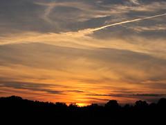 Sunset @ Boot Lake Nature Preserve (tquist24) Tags: sunset sky orange sun silhouette clouds geotagged evening indiana elkhart bootlakenaturepreserve