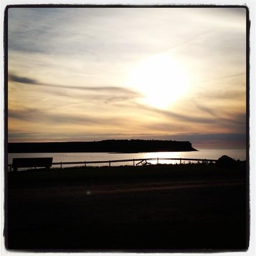 Chéticamp Island, seen from Chéticamp, Cape Breton Island, Nova Scotia, Canada #explorecanada #seaside #summer #sunset #capebreton #novascotia #maritimes #ocanada #shutterbugging #roadtrip #gulfofsaintlawrence