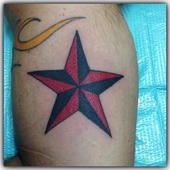 Fun nautical star #nauticalstartattoo #startattoo #lakeworthtattoo #alteredstatetattoo #westpalmbeachtattoo