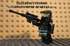 Lego halo sniper spartan (Keaton FillyDing) Tags: brick soldier lego space alien halo elite sniper reach custom grunt brute spartan brickarms odst brickforge fillyding