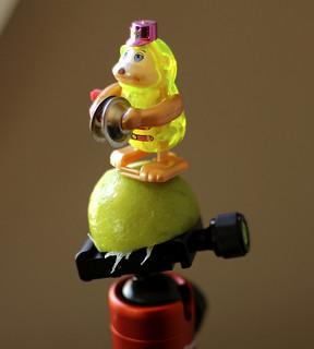 Cymbal Monkey Incubating a Lime ... on a Tripod