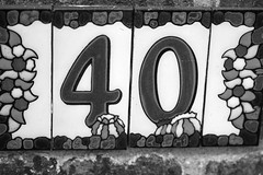 House number (Peter Dale Hosey) Tags: bw house canon ceramic number tiles 7d