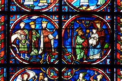 Laon - Cathedral (Martin M. Miles) Tags: france charlemagne stainedglass 02 adoration picardie magi laon picardy aisne adorationofthemagi gaudry lordchancellor cathdralenotredamedelaon easterinsurrection waldric lordkeeper