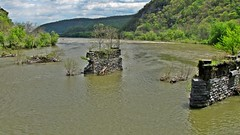 Abandoned bridge piers at Harpers Ferry (SchuminWeb) Tags: road park county railroad bridge west abandoned harpers ferry river virginia pier washington md war ben knoxville nps piers web may bridges maryland rail structure wv civil civilwar national westvirginia rivers era infrastructure potomac historical service harpersferry jefferson roads nationalparkservice heights infra structural marylandheights railroads 2014 harpersferrynationalhistoricalpark infrastructural schumin schuminweb