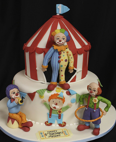 Clown Figurines Circus Cake