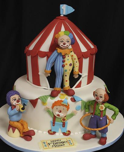 Clown Figurines Circus Cake