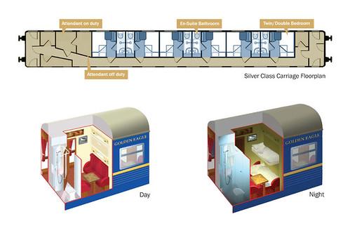 Golden Eagle Trans-Siberian Express - Silver Class plan