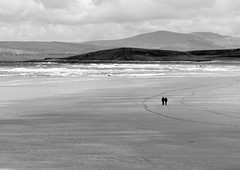 I envy you (eddieELM) Tags: ireland sea blackandwhite bw seascape mountains beach monochrome canon landscape eos mono open space company donegal bundoran ulster vast tullanstrand 600d tullan canoneos600d