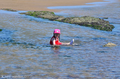 Sitting in the Rockpool (karllaundon) Tags: family sea summer sun cute beach fun happy seaside day child laugh northeast rockpool redcar