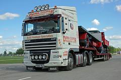 TV07956-Newark on Trent. (day 192) Tags: truck wagon lorry newark daf lorries xf newarkontrent transportshow newarkshowground dafxf transportrally aecsocietyrally derekcoopertransport yx58tdj