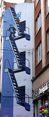 Tintin in Brussels (Smabs Sputzer) Tags: brussels fish belgium snowy cartoon jokes tintin haddock herge