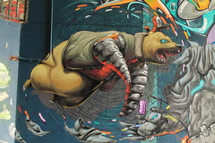 mos2014 germany (Pixeljuice23) Tags: bear streetart germany graffiti robot character friendlyfire pixeljuice