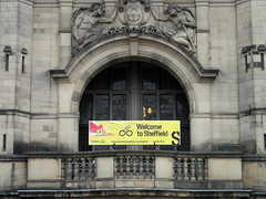Welcome To Sheffield (Dave_Johnson) Tags: sheffield townhall tourdefrance southyorkshire granddepart granddpart
