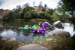 Camp Float 1 (PhDtv) Tags: california road ca trip travel camping light wild camp nature water rock cali night creek forest swim river stars t outdoors fire los woods dragon dinosaur angeles hike kern route inflatable journey whale orca write float slides rex hobo caliente alder sumemr