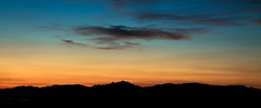 Sunset in Logroo (diegopiqueras) Tags: morning sunset red sky en orange sun black maana set clouds contrast photoshop sunrise de landscape atardecer evening la al exposure escape y edited negro paisaje amanecer cielo nubes land ambient rise scape edition logroo naranja rioja negras beautifull exposicion polvo sucio degradado
