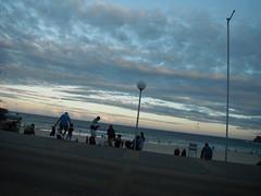 WINTER EVENING ON BONDI BEACH (RubyGoes) Tags: pink blue winter sunset men beach kids clouds women sydney australia nsw lamps