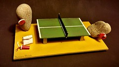 PingPong (Damien Webb) Tags: sculpture silly scale make paper table fun miniature model rocks play stones craft mini tennis wtf ping pong