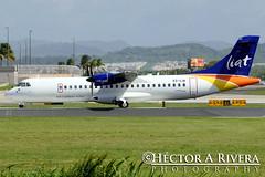 LIAT ATR ATR-72-600 (ATR-72-212A)  San Juan - Luis Munoz Marin International (Isla Verde) (SJU / TJSJ) Puerto Rico V2-LIA (Hector A Rivera Valentin) Tags: verde puerto san juan marin rico international luis isla liat sju atr munoz tjsj atr72212a atr72600 v2lia