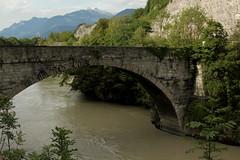 Historische Brcke ( Bridge - Pont ) ber die Rhne ( Fluss - River ) bei St. Maurice im Kanton Wallis - Valais der Schweiz (chrchr_75) Tags: river schweiz switzerland suisse swiss august rhne christoph svizzera fluss rhone 2014 suissa chrigu 1408 chrchr hurni chrchr75 chriguhurni chriguhurnibluemailch august2014 albumrhne hurni140809 albumrhneflussriver