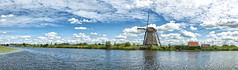 Kinderdijk panorama (PvRFotografie) Tags: panorama cloud holland nature water windmill clouds nederland natuur wolken kinderdi
