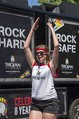 """Vancouver Pride Parade 2014 - 0277 (gherringer) Tags: summer music canada vancouver fun happy bc pride parade colourful cheer trojan whistle vanpride """"west end"""""""